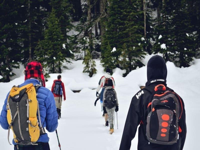 Trekking di gruppo inverno