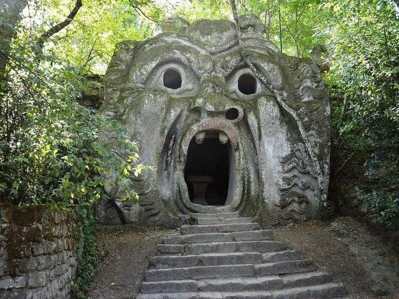 mostra bocca giardino dei mostri viaggio tuscia